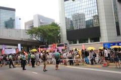 Evento 2015 de la marcha de Hong Kong del vigésimo sexto aniversario de las protestas de la Plaza de Tiananmen de 1989 Foto de archivo