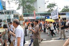 Evento 2015 de la marcha de Hong Kong del vigésimo sexto aniversario de las protestas de la Plaza de Tiananmen de 1989 Imagen de archivo