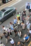 Evento 2015 de la marcha de Hong Kong del vigésimo sexto aniversario de las protestas de la Plaza de Tiananmen de 1989 Fotos de archivo