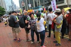 Evento de la marcha de Hong Kong del vigésimo sexto aniversario de las protestas de la Plaza de Tiananmen de 1989 Imágenes de archivo libres de regalías
