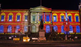 Evento de la Navidad del ` s del gigante Advent Calendar - de Edimburgo del ` s de Edimburgo - de Edimburgo - 10 de diciembre de  Foto de archivo