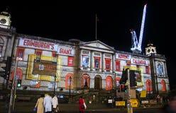 Evento de la Navidad del ` s del gigante Advent Calendar - de Edimburgo del ` s de Edimburgo - de Edimburgo - 10 de diciembre de  Foto de archivo libre de regalías