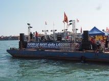 Evento de la protesta en Venecia Imágenes de archivo libres de regalías