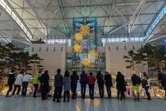 Evento de observación turístico del Año Nuevo de DEC 9,2017 en el aeropuerto Te de Inchon Imagenes de archivo