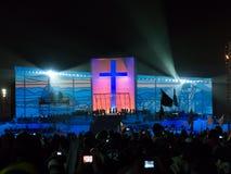 Evento del DÍA de JUVENTUD de MUNDO, playa de Copacabana - el Brasil Fotos de archivo