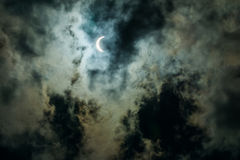 Evento 2017 del eclipse solar en el cielo de Carolina del Sur Foto de archivo libre de regalías