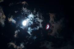 Evento 2017 del eclipse solar en el cielo de Carolina del Sur Fotos de archivo
