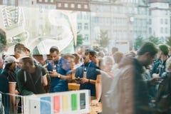 Evento del lanzamiento de IPhone 6 Fotografía de archivo