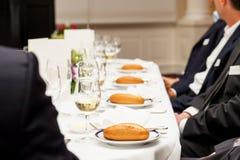 Evento del negocio en restaurante Imagen de archivo libre de regalías