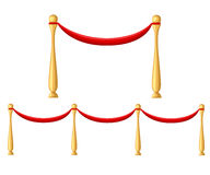 Evento del tappeto rosso VIP o testa cerimoniale dell'immagine realistica di visita di stato con l'illustrazione delle barriere d Immagini Stock Libere da Diritti