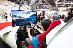 Evento dell'accademia di Nissan GT su esposizione immagine stock libera da diritti