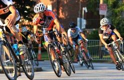 Evento della corsa della bici della via fotografia stock