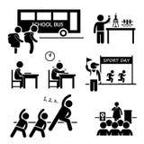 Evento di attività di scuola per lo studente Clipart Fotografia Stock