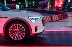 Evento di Audi E-Tron al centro di formazione dell'aeroporto Monaco di Baviera - di Audi fotografia stock libera da diritti