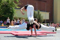 Evento di ginnastica in Novi triste Fotografie Stock
