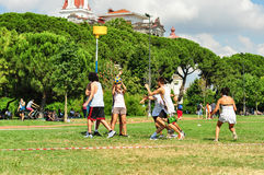 Evento di Korfball di estate a Costantinopoli Immagini Stock