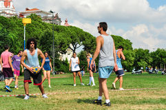 Evento di Korfball di estate a Costantinopoli Fotografie Stock