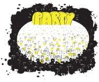 Evento di massa del partito illustrazione di stock