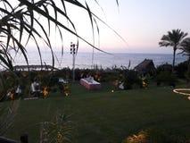 evento di nozze alla spiaggia nel Libano Immagine Stock Libera da Diritti