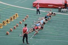 evento di pista sesto Hong Kong Games Fotografia Stock