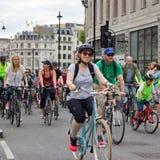 Evento di riciclaggio di RideLondon - Londra 2015 Fotografia Stock