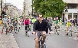 Evento di riciclaggio di RideLondon - Londra 2015 Immagine Stock Libera da Diritti