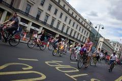 Evento di riciclaggio di RideLondon - Londra 2015 Fotografie Stock Libere da Diritti