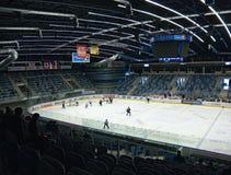 EVENTO DO ACESSO PÚBLICO! Chomutov, kraj de Ustecky, república checa - 7 de janeiro de 2017: interior da arena de múltiplos propó Fotografia de Stock Royalty Free