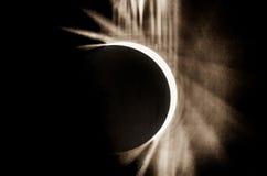 Evento 2017 do eclipse solar no céu de South Carolina Foto de Stock