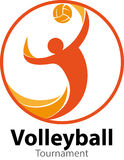 Evento do logotipo do competiam do voleibol Imagens de Stock