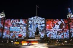 Evento do Natal do ` s do gigante Advent Calendar - do Edimburgo do ` s de Edimburgo - de Edimburgo - 10 de dezembro de 2017 Imagens de Stock