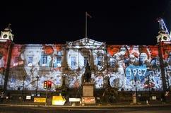 Evento do Natal do ` s do gigante Advent Calendar - do Edimburgo do ` s de Edimburgo - de Edimburgo - 10 de dezembro de 2017 Fotografia de Stock