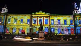 Evento do Natal do ` s do gigante Advent Calendar - do Edimburgo do ` s de Edimburgo - de Edimburgo - 10 de dezembro de 2017 Fotografia de Stock Royalty Free