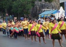 Evento especial do ano novo em Khao Chong Krajok, Prachuap Khiri Khan Fotografia de Stock Royalty Free