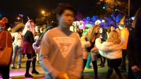 Evento especial - Hollywood ocidental Dia das Bruxas Carnaval vídeos de arquivo