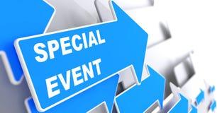 Evento especial na seta azul. ilustração royalty free
