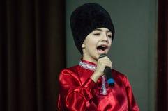 Evento festivo votato al giorno dei lavoratori di alloggio e di servizi comunali Kaluga (Russia) nel 17 marzo 2016 Immagini Stock Libere da Diritti