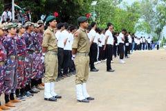 Evento indiano di parata di festa dell'indipendenza Fotografia Stock Libera da Diritti