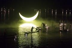 Evento Lui Sanjie, Yangshuo, China del aire abierto Foto de archivo libre de regalías