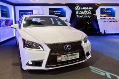 Evento mediatico di Lexus LS Immagine Stock