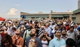 Evento Memphis, TN 2017 del eclipse Fotografía de archivo
