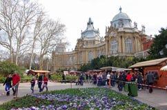 Evento no castelo de Vajdahunjad em Budapest Foto de Stock Royalty Free