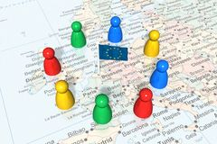 Evento político europeu Imagens de Stock Royalty Free