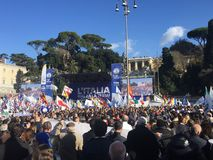 Evento político Roma de Lega Nord imagem de stock