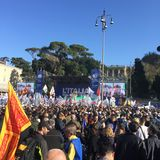 Evento político Roma de Lega Nord fotos de stock royalty free