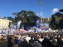 Evento político Roma de Lega Nord imagens de stock