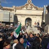 Evento político Roma de Lega Nord foto de stock royalty free