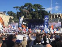 Evento politico Roma di Lega Nord fotografia stock libera da diritti