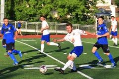 Evento profesional del fútbol Foto de archivo libre de regalías