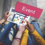 Evento que recolhe o conceito da ocasião da celebração Foto de Stock Royalty Free